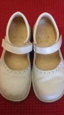 Ballerine per bambina - bianco opaco - con velcro  - N°28 - vera pelle -  USATE