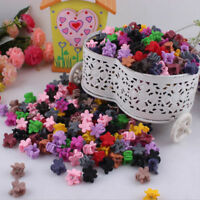 30PCS Baby Girl Plastic Hair Claw Candy Colour Mini Clip Clamp Flower Kids Gift