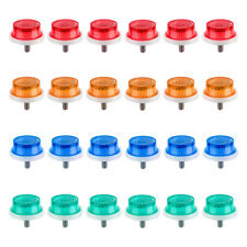 """SUNLITE 1"""" Mini MULTI COLOR Reflectors w/ Wing Nut Bike Bicycle Safety SET OF 24"""