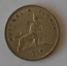 1954 Australia Florin Silver Coin