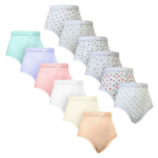 Womens Full Size 100% Soft Cotton RIBBED Mama Briefs Underwear Knickers