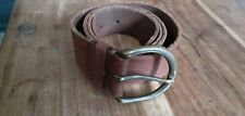 """Men's Brown Leather Belt 48"""" pre owned"""