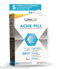 LomaLux Labs Homeopathic Acne Chewable Quick Dissolving 60 Pills (Loma Lux)
