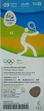 TICKET 9.8.2016 OLYMPIA RIO OLYMPIC GAMES TENNIS # t13