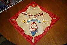 """Vintage Howdy Doody Handkerchief Bandana - 21 1/2"""" by 21"""""""