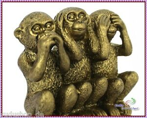 "3er Affen "" nicht hören / sehen / sprechen "" Fengshui"