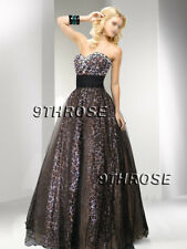 INDULGE YOURSELF! BROWN LEOPARD BEADED FORMAL/EVENING/PROM/BALL GOWN; AU18/US16