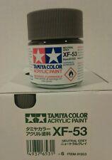Tamiya acrylic paint XF-53 Neutral Grey. 23ml
