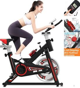 Exercise Cycling Spin Bike Flywheel LCD Display Fitness Workout Home Gym Indoor