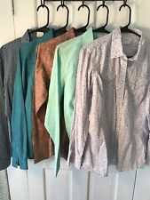 Rockies & Ariat Large L Women's Shirt Lot Of 5 Pearl Snap Western Long Sleeve