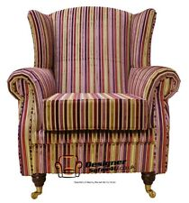 Ashley Wing Chair Fireside High Back Armchair Multi Riga Stripe