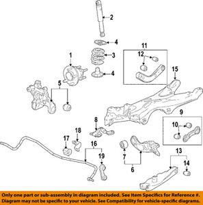 GM OEM Rear Suspension-Knuckle Spindle 19303839
