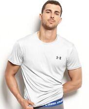 $98 Under Armour Men Stretch White T-Shirt Undershirt Crew-Neck Short-Sleeve S