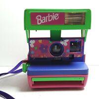 Vintage Barbie Polaroid 600 Instant Camera with Original Strap 1998 Untested