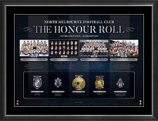 North Melbourne VFL/AFL Honour Roll with Medallions Print Framed - OFFICIAL