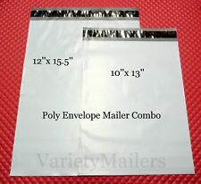 New listing 50 Poly Bag Mailer Combo ~ 10x13 & 12x15.5 / 2.5 Mil Quality Shipping Bags