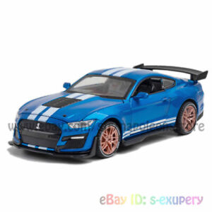 Ford Mustang Shelby GT500 1:32 Model Car Alloy Diecast Toy Vehicle Kid Gift Blue