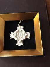 Margaret Furlong Dogwood Cross Ornament Framed