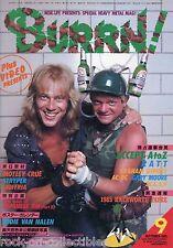 Burrn! Heavy Metal Magazine September 1985 Japan Accept AC/DC Ratt WASP