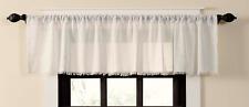 "Tobacco Cloth Antique White Window Valance Prim Farmhouse Cottage Fringe 72"""