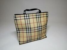 Authentic BURBERRY checkered tote Nova Check fabric hand bag