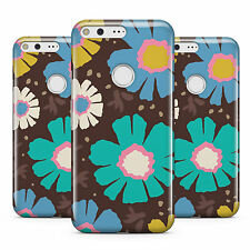 DYEFOR YELLOW BLUE DAISY STYLE NEON FLOWER PATTERN PHONE CASE COVER FOR GOOGLE