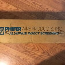 "Phifer Aluminum Insect Screening 30"" x 100' New"