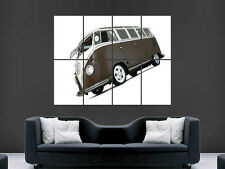 VW CAMPER POSTER TRANSPORTER CLASSIC CAR VEHICLE ART PICTURE PRINT LARGE  HUGE