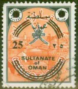 Oman 1972 25b on 40b Black & Red-Orange SG145 Good used