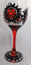 Supernatural Wine Pint Glass Goth Metal Winchester Vampire Pentagram Pagan