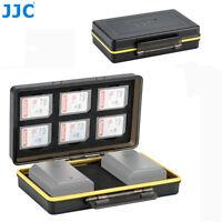 JJC 2 Camera Battery + 6 SD SDHC SDXC Card Case Holder for Canon Nikon Sony Fuji