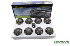 LAND ROVER DEFENDER 90 / 110 SMOKED LED UPGRADE LAMPS KIT 73 MM LED STYLE LIGHT