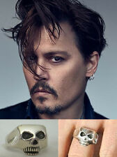 Johnny Depp .925 silver SKULL RING Jack Sparrow Pirates of the Caribbean