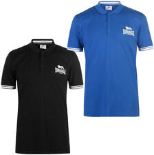 Lonsdale Polo Bamston Poloshirt 113564 7000 Weiß UK Flag Slim Fit  5252