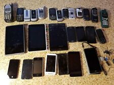Junk Drawer Lot 28 Cell Phones For Parts Repair Or Gold Recovery Only untested