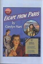 Escape From Paris, SIGNED w/ Bookmark First Edition Carolyn Hart