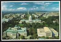 U.S. Capitol, Library of Congress & Supreme Court aerial  View Unposted Postcard