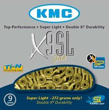 KMC X9SL Gold 9 Speed Road or Mountain Bike Chain KMCX9SLG
