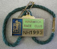 Warwick Race Club Enamel Badge Nh 1993 Horse Racing Racecourse