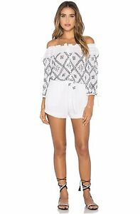 NWT XS Chloe Oliver Romper Jumpsuit NEW Tie Front