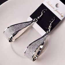 Silver/Gold Dangle Water Drop Shape Hook Women Jewelry Fashion Gift Earrings