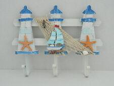 Shabby Chic De madera Faro Ganchos De Baño Playa Mar Náutico