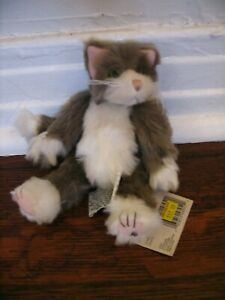 """Ganz Cottage Collectibles - Wobble Head - """"Dusty"""" The Cat NEW WITH TAGS"""