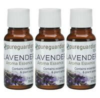NEW 3-Pack PureGuardian Spa LAVENDER Aroma Essence 1 oz. (30ml) Essential Oils