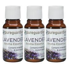 New 3-Pack PureGuardian Spa Lavender Aroma Essence 1 oz. (30ml) E 00004000 ssential Oils