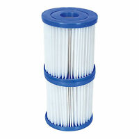 """Pool Filter Cartridge Swimming Cleaner Water Bestway Twin Pack Fits 3.1"""" x 3.5"""""""