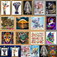 5D DIY Drill Diamond Painting Art Animal Cross Stitch Kit Decor Embroidery Home