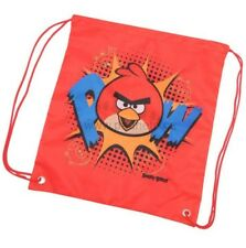 ANGRY BIRDS ROVIO RED DRAWSTRING BACK PACK SWIMMING BAG BNWT FREE P&P POW!