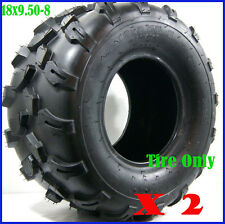 "2Pcs 4PLY 18 X 9.50 - 8"" inch Rear Back Tyre Tire 150cc Quad Dirt Bike ATV Buggy"