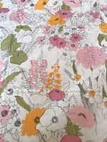 Burlington Never Never Iron Flowers Vintage Twin Fitted Sheet Retro Floral Pink